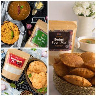 Bhatura, Missi Roti & Bedmi Poori Mix